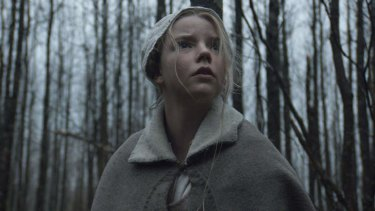Anya Taylor-Joy in Robert Eggers' film <i>The Witch</i>.