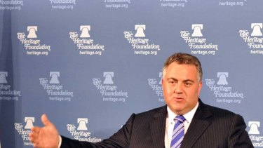 """""""I would like to see the RBA take on a greater role as a referee and in their statement include whether the banks should pass [rate cuts] on in full or in part"""" ... Joe Hockey."""