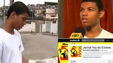 Rene Silva, 17, began tweeting during a heavily armed police operation to drive out drug dealers from the favela in which he dwells.