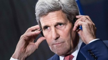 Talking: US Secretary of State John Kerry has been touring the Middle East in an attempt to win Arab and Turkish support for the military action in Iraq and Syria.