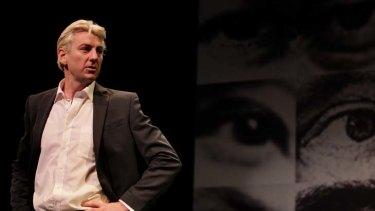 Mystery man ... Darren Weller playing Julian Assange.