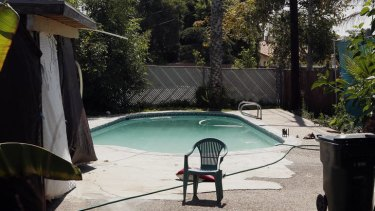 The swimming pool at Rodney King's home, where he was found dead.
