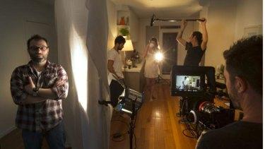 Buddhist monk turned filmmaker Clarke Scott on the set of his debut movie.
