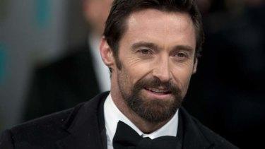 Hugh Jackman ... sporting a beard.