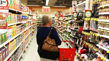Wesfarmers said sales data pointed to a reduction in how much shoppers were spending on groceries.