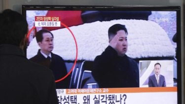 Change at the top: North Korean leader Kim Jong-un, right, has dismissed his uncle, Jang Song-thaek.