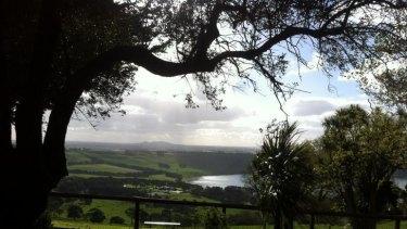 The mountain views at Camperdown Botanic Gardens.
