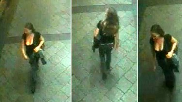 The images released by police of the woman they want to talk to.