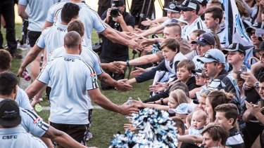 NSW NRL Cronulla Sharks players meet and greet fans at Southern Cross Group Stadium, Cronulla. 27th September 2016, Photo: Wolter Peeters, The Sydney Morning Herald.