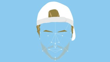 A rough mockup of MasterCard's facial recognition, using tennis champion Lleyton Hewitt.