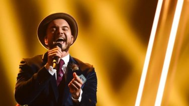 Guy Sebastian performs <i>Tonight Again</i> during rehearsals ahead of the Eurovision Song Contest in Vienna, Austria. The final of the Eurovision Song Contest 2015 will be broadcast on SBS on Sunday at 5am.