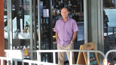 Riverside Cafe owner Bryan Molnar is among those who says his business has suffered because of Elizabeth Quay construction.