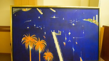 Blue Lavender Bay, one of the paintings presented as evidence in court.