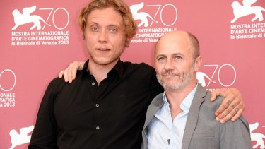 Amiel Courtin-Wilson and Michael Cody in Venice, where their film <i>Ruin</i> has won a prize..