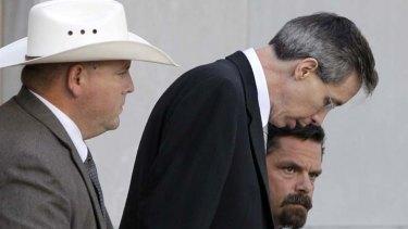 Warren Jeffs, centre, faces a possible life term when he is sentenced.