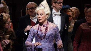As The Duchess of Krackenthorp in Donizetti's <i>La Fille du Regiment</i>.