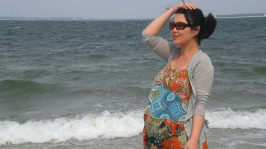 Before giving birth ... Grace Wang.
