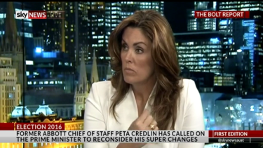 Peta Credlin is an on-screen natural.