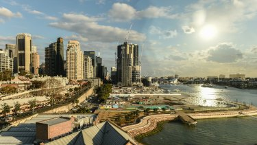 Headland Park Barangaroo, with the central area to be redeveloped under a new tender.