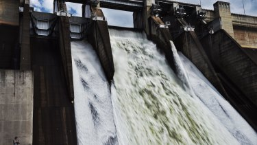 Warragamba dam last spilled over in August 2015 - and may again next week.