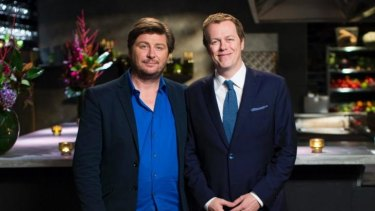 The judges on Nine's <i>The Hotplate</i> are Scott Pickett and Tom Parker Bowles.
