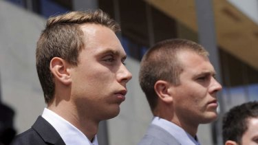 The two convicted cadets, Dylan Deblaquiere and Daniel McDonald.