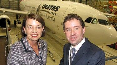 Queensland Premier Anna Bligh and QANTAS CEO Alan Joyce at the Brisbane workshop.