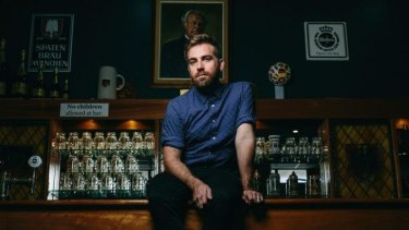 Musician Josh Pyke at the Concordia Club.