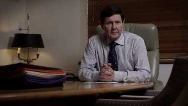 Kevin Andrews in his ministerial suite in Parliament House on Monday.