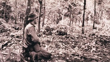 Australian soldiers during the battle of Long Tan in Vietnam.