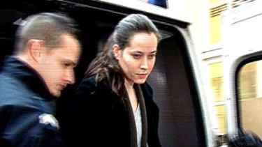 Jessica Davies arrives at court.