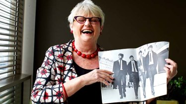 ''I screamed myself hoarse'': Roslyn Forrest still has the program and her ticket from a Beatles concert in 1964.