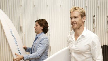 Surfstitch co-founder  Justin Cameron's (right) departure has raised questions about the group's investment in content.