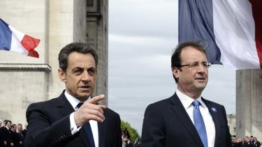 Two become one ... Nicolas Sarkozy and Francois Hollande.