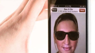 eBay's US fashion app allows people to virtually try on sunglasses before they buy.