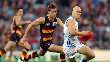 Gary Ablett turned on his best form in his last match, against Adelaide at AAMI Stadium.