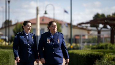 Dame Phyliss Frost prison for women in Ravenhall. 2 December 2015. The Age NEWS. Photo: Eddie Jim. ( Jan Shuard, Commissioner Corrections Victoria,left, and Tracy Jones, General Manager Dame Phyliss Frost Centre)