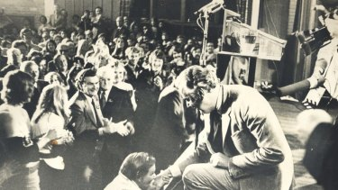 Gough Whitlam opening the Labor Election Campaign at the Blacktown Civic Centre in 1972.
