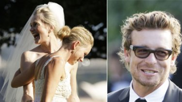 Here come the guests ... Naomi Watts, above, played the dutiful bridesmaid to Emma Cooper, while actor Simon Baker was among the guests.