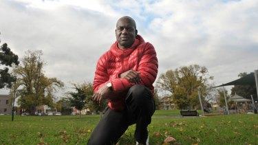 Former Olympic sprinter Ben Johnson in Melbourne yesterday,