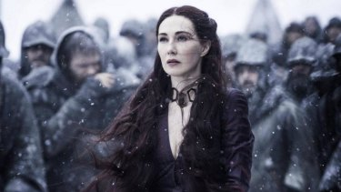 Boo, Kate Bush, how could you? Carice van Houten as Melisandre.