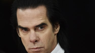 Nick Cave arrives at the British Academy of Film and Arts awards ceremony at the Royal Opera House in London in 2015.