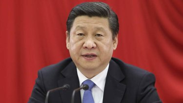 Chinese President Xi Jinping addresses the third plenary session of the 18th Central Committee of the Communist Party of China, in Beijing.