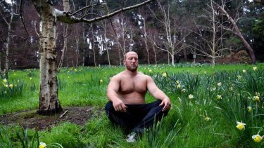 Dale Stevenson is not your average shot-putter - he complements his training with meditation, yoga, and tree-climbing.