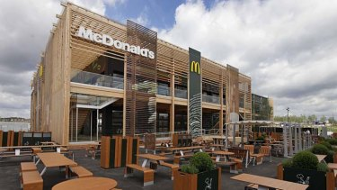 Supersize ... a view of the newly constructed McDonald's restaurant at the Olympic Park in east London.