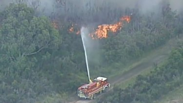 A bushfire emergency is unfolding south-east of Melbourne.
