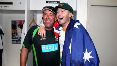 Nobody's laughing now: Darren Lehmann's policy of making players tell jokes has the team playing like a serious Test side again.