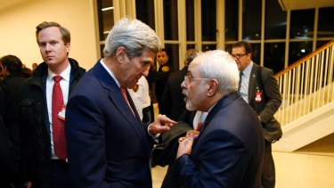 US Secretary of State John Kerry with Iranian Foreign Minister Mohammad Javad Zarif in Vienna earlier this year.