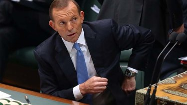 """Prime Minister Tony Abbott: """"Stopping the boats is a matter of sovereignty""""."""