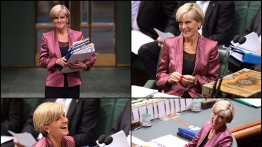 Foreign Minister Julie Bishop in Question Time on Wednesday.